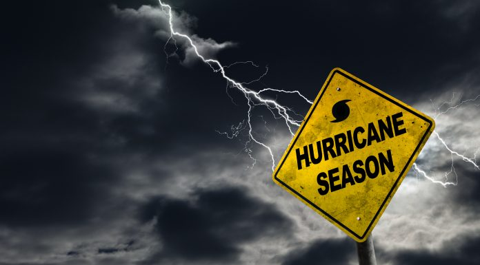 bigstock Hurricane Season Sign With Sto 133697546 scaled
