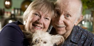 Seniors with Dog scaled