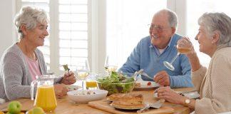 Senior Citizens eating