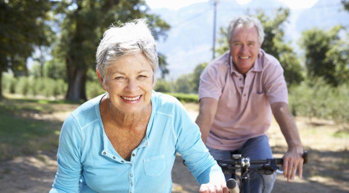 Happy Seniors Biking