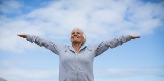 bigstock Happy senior woman doing stret 257252170 1 scaled