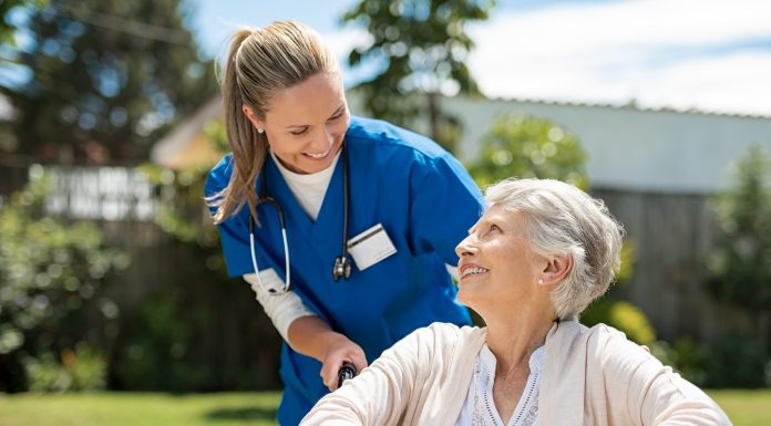 bigstock Nurse taking care of old woman 262131685 1 scaled
