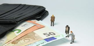 tax office fine miniature figures pension royalty free thumbnail